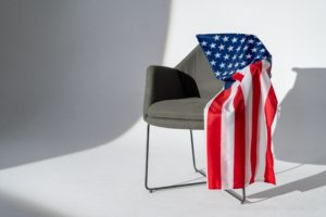 USA flag on top of chair representing Is a TDIU rating permanent